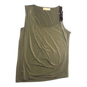 Michael Kors | Ladies Olive Buckle Tank Top